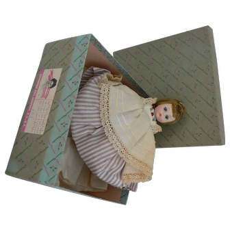Alexander-Kins Meg # 481 near mint with box never played, tagged outfit and flutter sleep eyes.