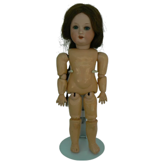 Sweet A.M. 390 German Bisque Doll 11 1/2 inches tall on a fully jointed body with original wig