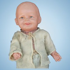 BIG Celluloid Boy Toddler doll all original and cute.
