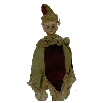 Antique Marotte Bisque Head doll / toy musical and all original.