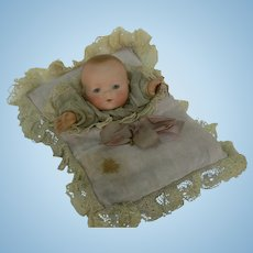 Sweet A.M. 341 Pillow Puppet doll all original bisque head toy.