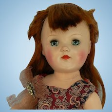 Ideal Toni Doll 18 inch P-92 Red Hair Parts or