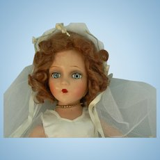 Vintage Madame Alexander Wendy Doll dressed as a Bride
