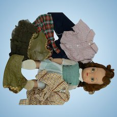 1950's Mary Jane doll with tagged outfits Terri Lee look a like
