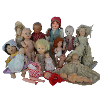 Vintage Old Doll Collection parts or just to..
