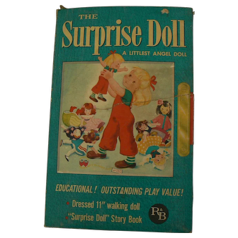 Rare R & B The Surprise Doll Mint with Box and Book Hard to Find Doll all original.
