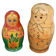 2 Vintage Russian Nesting Doll sets