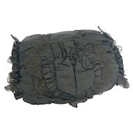 Black Antique Childs Muff in great shape and great for a doll to use.