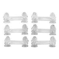French Knife Rests Set 6 Pc, Lion's Head Model