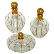 Rare Baccarat Gold Enamel Crystal Dresser / Vanity Perfume Set