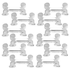 1900 Baccarat French Crystal Knife Rests Set 12 Pc, Cherub Model