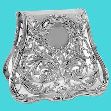 Debain French Silver Asparagus Sandwich Grip Art Nouveau
