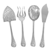 Puiforcat Rare French All Sterling Silver Dessert Hors D'oeuvre Set 4 Pc