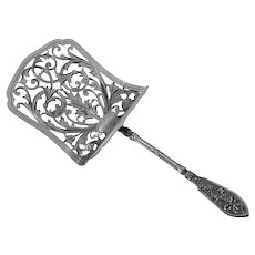 Henin French All Sterling Silver Asparagus Pastry Server Musical Instruments