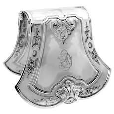 Puiforcat French All Sterling Silver Asparagus or Sandwiches Grip, Regency