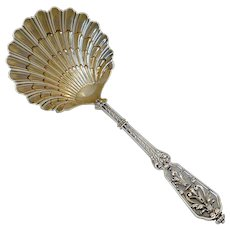 Puiforcat French Sterling Silver 18k Gold Strawberry Spoon, Francois 1 er, Renaissance