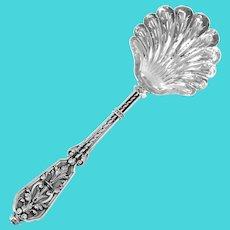 Puiforcat Rare French Sterling Silver 18k Gold Sugar Sifter Spoon, Renaissance