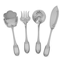Coignet French Sterling Silver Dessert Hors D'oeuvre Set 4 Pc, Neoclassical