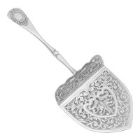Puiforcat French Sterling Silver Asparagus Pastry Toast Server, Neoclassical
