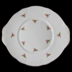 Fenton China Company Cake Plate Roses Made in England