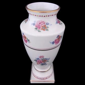 "Vintage Limoges Vase 8"" Enamel Dots Hand Painted Accents"