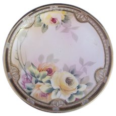 Nippon Footed Bowl Dish Art Nouveau Maple Leaf Mark c.1891