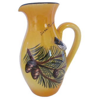 Majolica Cicada Pitcher Creation Albert Ferlay Vallauris France