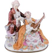 Dresden Plateau Figurine Carl Thieme Musical Man Woman Crown N
