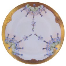 Art Nouveau Pickard China Violet Plate c.1910 Purple Lavender Hand Painted