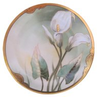 Art Nouveau Pickard Rare Calla Lily Plate Curtis Marker Rare Limoges Blank