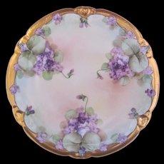Art Nouveau Pickard Violet Plate Signed Howard Reury c.1910