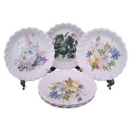 Haviland Limoges Coasters Set of 6 Signed Fredrick Haviland 3 Patterns