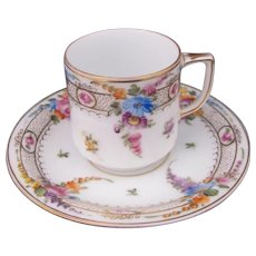 Dresden Demitasse Miniature Cup and Saucer Donath