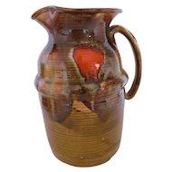 Dryden Original Drip Glaze Pitcher Arval Sanders Earth Tones