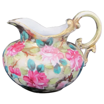 Nippon Pitcher Gold and Roses Maple Leaf Mark, c.1891