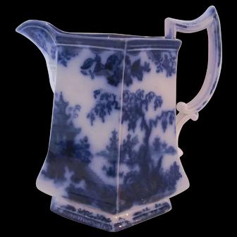 Flow Blue Shanghae Pitcher Furnival c.1860