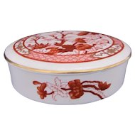 Coalport Indian Tree Coral Trinket Box