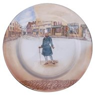 Antique Royal Doulton Dickens Ware Charger Dinner Plate Mr. Micawber