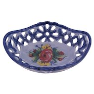 Oval Bowl Dish Made in Portugal Bright Primary Colors