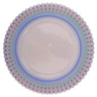 "Petalware Pastel Band Salad Plate 8"" MacBeth Evans Depression 1930's-40's"