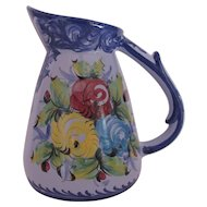 Large Pitcher Made in Portugal Bright Primary Colors