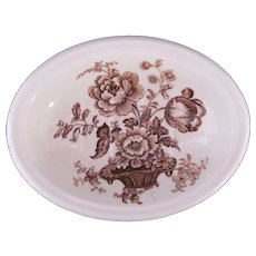 Royal Staffordshire Charlotte Ribbed Soap Dish Clarice Cliff