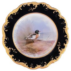 Antique Game Bird Plate c.1862 Brown-Westhead Moore Sheildrake Artist Signed