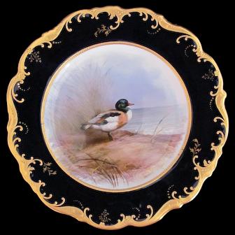 Antique Game Bird Plate c.1862 Brown-Westhead Moore Sheildrake Artist Signed