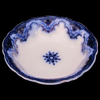 Flow Blue Cambridge Large Open Vegetable Bowl Dish Alfred Meakin c.1891