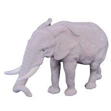 Karl Ens Gray Elephant Figurine Porcelain Germany Vintage c.1940