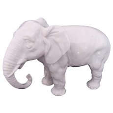 Sitzendorf White Elephant Figurine Porcelain Germany Vintage c.1901-53