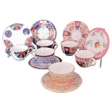 Royal Worcester Miniature Cup Saucer Compton & Woodhouse Lot of Six