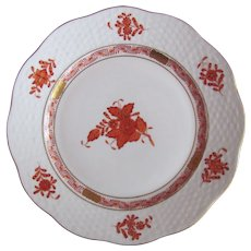 Herend Salad Plate Chinese Bouquet Rust 517/AOG MINT