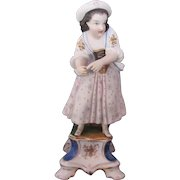 Jacob Petit Girl Incense Burner Candlestick Old Paris Porcelain 1830-1862